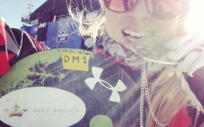 Liquid glass meets snowboard cross thanks to Dominique Maltais