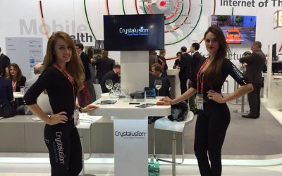 Crystalusion exhibiting Liquid Glass Protection @ Mobile World Congress in Barcelona